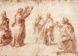 Studie zu Paulus in Athen (Raffael)